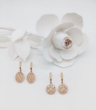 Blush Rose Gold Earrings Collection
