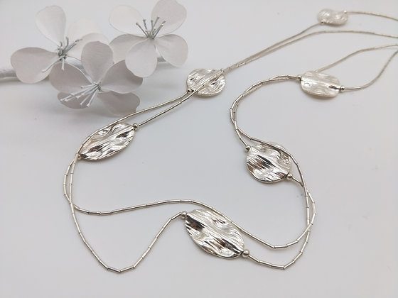 Liquid Necklace Silver