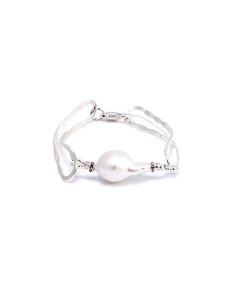 Sea Scape Bracelet with Pearl
