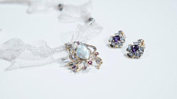Sea Scape Sapphire and Pearl