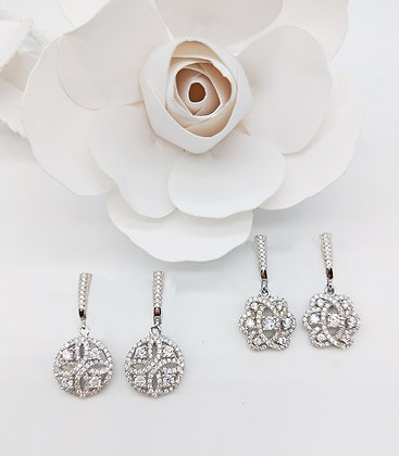 Blush White Gold Earrings Collection
