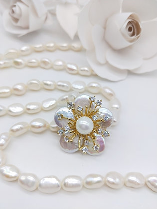 Blush Necklace Fresh water pearl