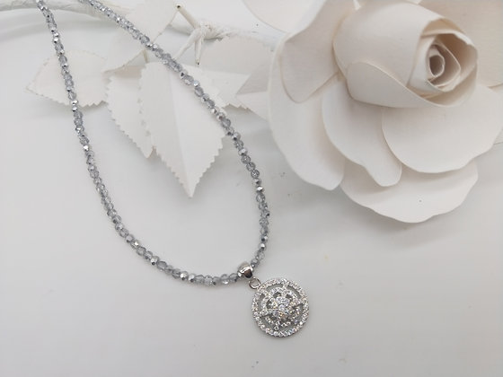 Blush Necklace with White Gold