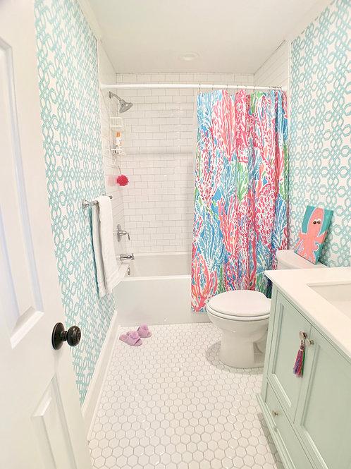 Partial Bathroom Design Plan