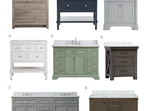 8 Vanities Perfect for a Powder Bath!