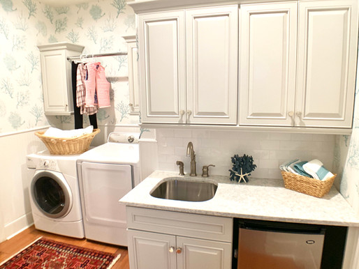 A Beautiful Laundry Room Designed to Work