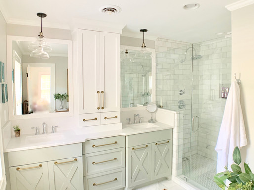 Our Master Bath Remodel!  Before & After Photos