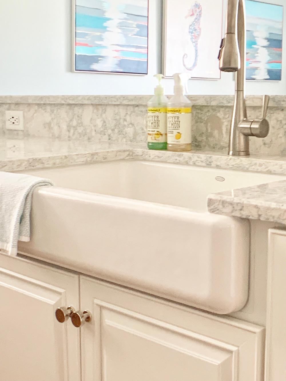 porcelain apron front sink