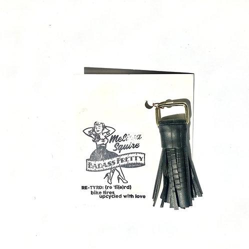 Re-Tyred Tassel Keychain
