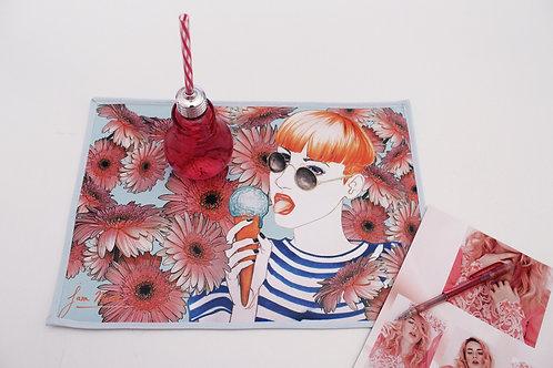Manteles individuales con ilustración chicas