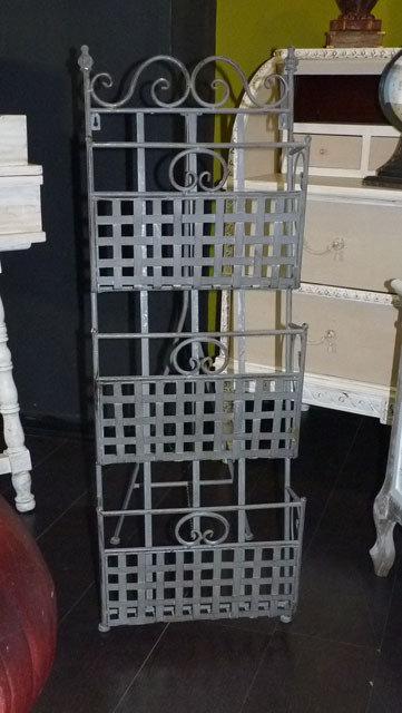 SD40 Porta Riviste In Ferro Battuto