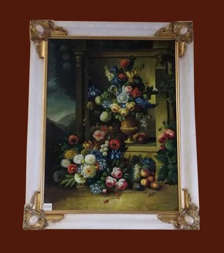 "N.29M ""Natura morta"" dipinto ad olio su tela"