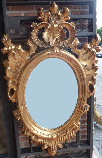 N.145 Specchiera Napoletana in foglia oro