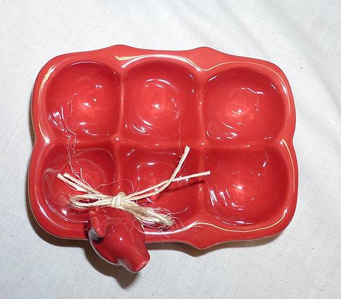 QQ15 Portauova in Ceramica Rossa