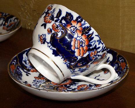 PR64 Servizio Da Thè In Porcellana Fine '800