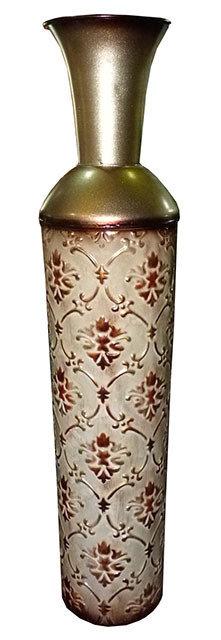 "PT111 Vaso In Metallo Decorato  ""Metal Floor Vase"""