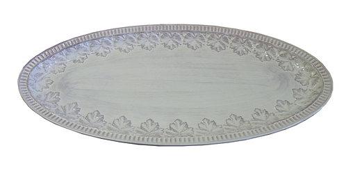 """MT297 Vassoio Ovale """"Foglie"""" In Ceramica"""