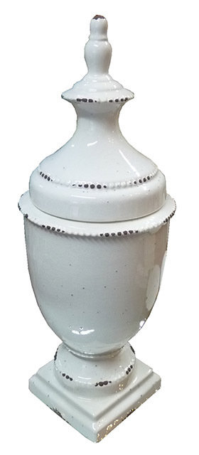 LG38 Vaso Con Coperchio In ceramica