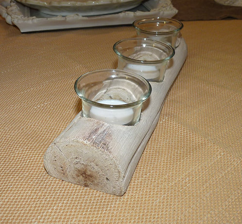 """PT193 Porta Candela In Legno""""Wooden Candle"""""""