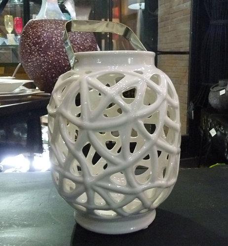 PT60 Lanterna In Ceramica TraforataShabby Chic
