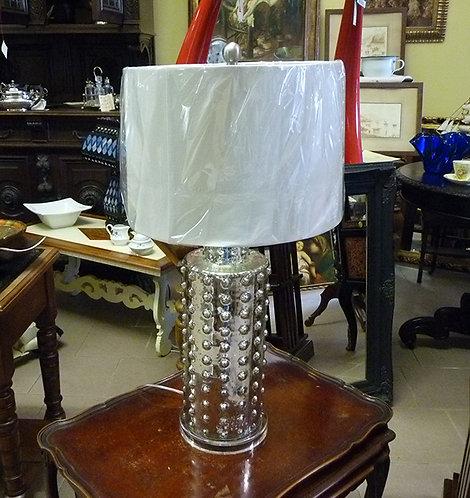 CH107 Lampada in vetro con finitura silver