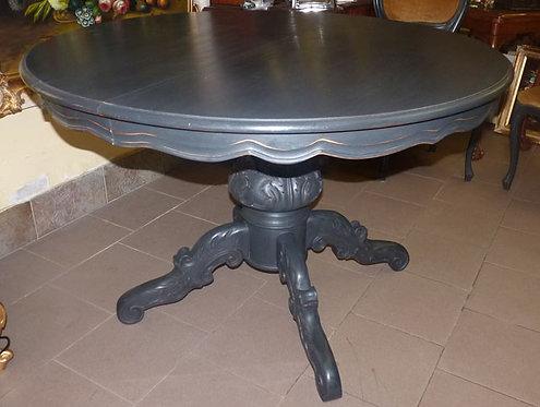 N.309 Tavolo Francese e in Noce Decapato Shabby Noir