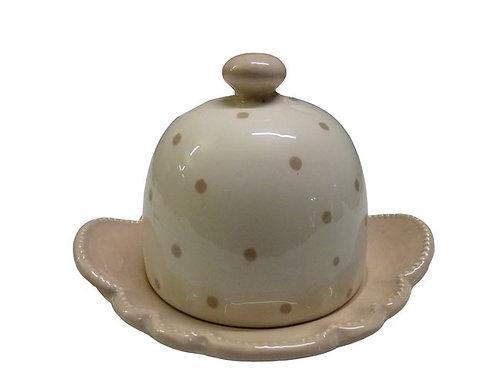 QQ49 Vassoio Porta Burro In Porcellana