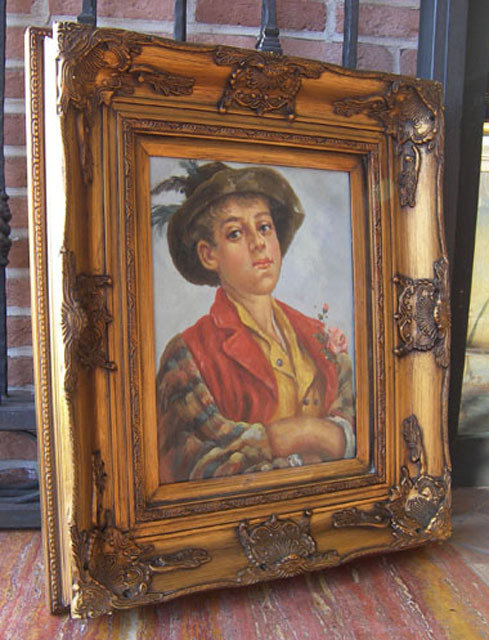 "N.170 ""Pastorello In Festa"" dipinto ad olio su tela"