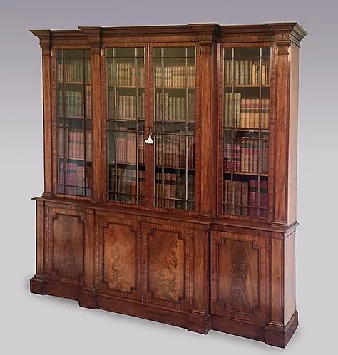 "N.510 Libreria breakfront ""Gillows"" in mogano del periodo George III"