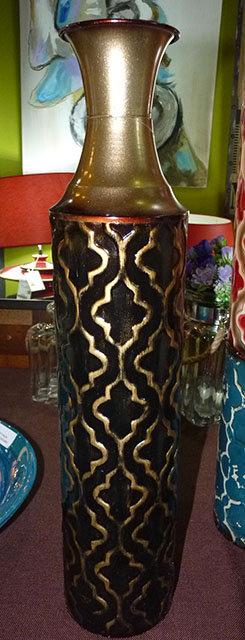 "PT113 Vaso In Metallo Decorato  ""Metal Floor Vase"""