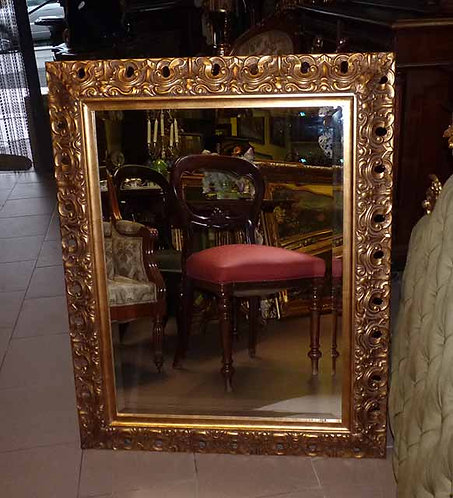 N.09a Specchiera Barocca cornice in legno a foglia oro