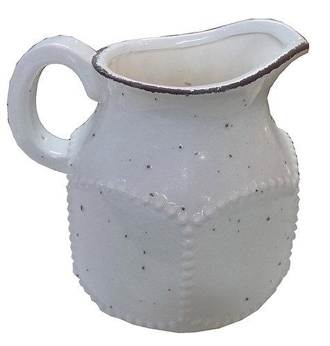 LG41 Vaso Brocca In Ceramica Lavorato