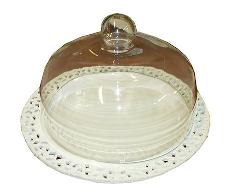 SD81 Porta Torte In Ceramica Traforata