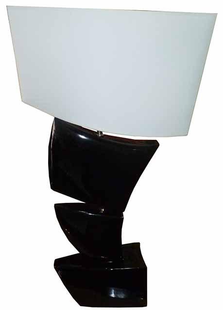 DR36 Sailing Lampe Noir Satinè