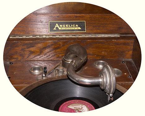 N.09 Grammofono Autentico In Rovere