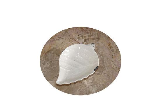 CH25 Vassoio in ceramica conchiglia stile shabby chic