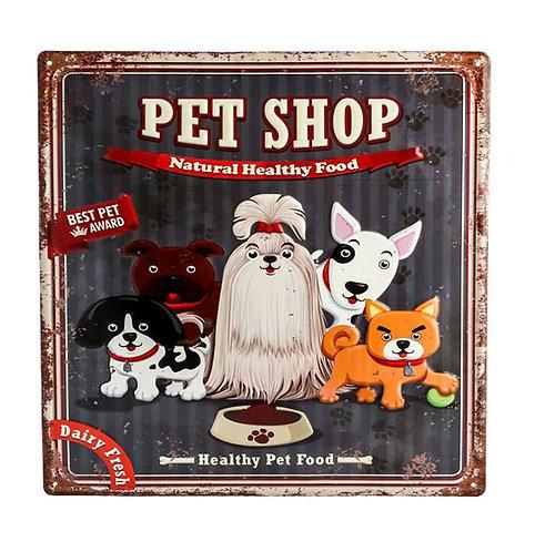 """MT224 Targa In Latta """"Pet Shop"""""""
