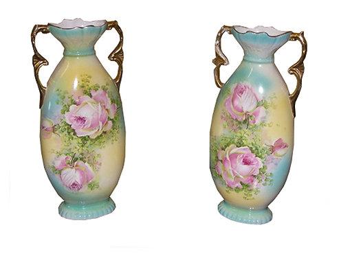 PR38 Coppia Di Vasi In Porcellana