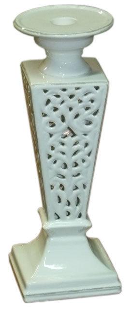 SD84 Candelabro In Ceramica Traforata