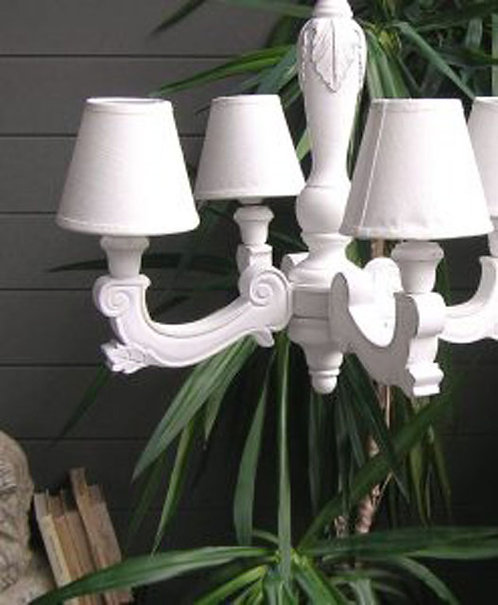 CH57 Lampadario white antique