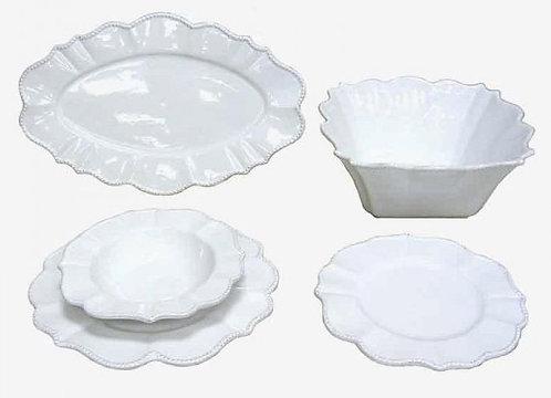 QQ65 Servizio per 12 persone In Ceramica Stile Shabby Chic