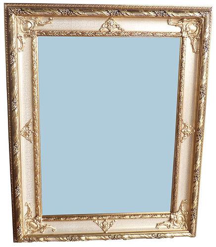 N.169 Specchiera in foglia oro con cornice ad effetto crakelè