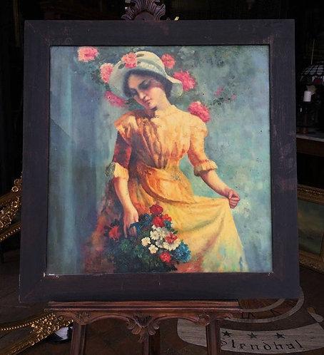 """N.26DA """"Henriette"""" dipinto ad olio su tela primi '900"""