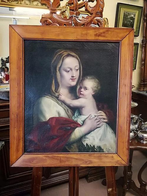 N.61DA Maternità '700 Dipinto ad olio su tela