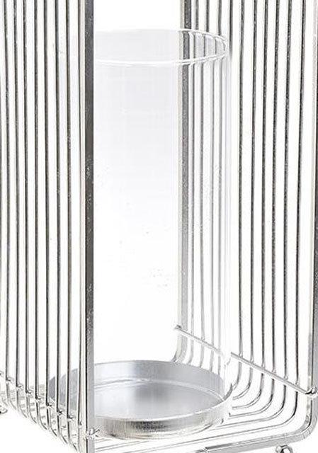 IN103 Portacandela in vetro e metallo