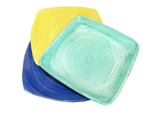 VT20 Posto Tavola Quadrato Colorato Ceramica Di Vietri Dipinto a Mano