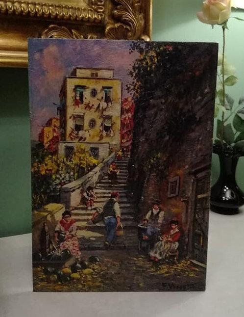 N.05P Dipinto ad olio su tavola