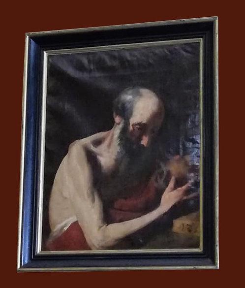 "N.03DB ""San Girolamo"" scuola toscana primi '800 olio su tela"
