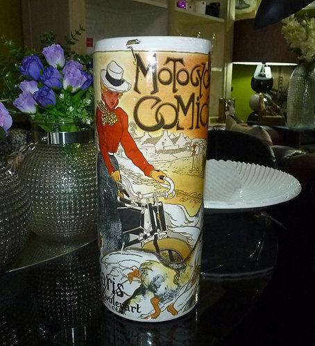 "PT195 Vaso In Ceramica Con Stampa""Ceramic Vase"""
