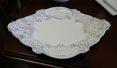 """MT298 Vassoio Ovale """"Antik"""" In Ceramica"""